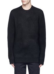 3.1 Phillip Lim Oversized Split Hem Wool Blend Sweater Black