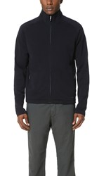 Z Zegna Techmerino Full Zip Sweatshirt Navy