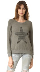 Sundry Star Raglan Sweatshirt Copy Star