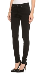 7 For All Mankind The High Waist Slim Illusion Luxe Skinny Jeans Slim Illusion Luxe Black