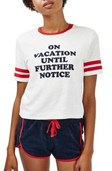 Topshop Women's 'On Vacation' Terry Pajamas
