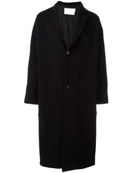 Societe Anonyme Loose Fit Oversized Coat Black