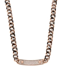 Michael Kors Pave Stainless Steel And Faux Tortoise Bracelet Rose Gold