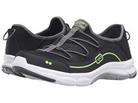 Ryka Feather Pace Black Iron Grey Lime Shock Women's Shoes
