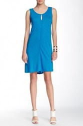 Lilla P Flame Seamed Tank Shift Dress Blue