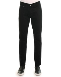Givenchy Slim Denim Pants With Leather Back Pocket Black