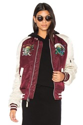 Alpha Industries Ma 1 Souvenir Shinto Bomber Burgundy