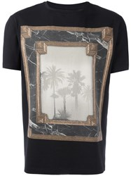 Versus Painting Print T Shirt Black