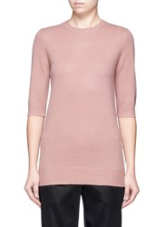Vince Elbow Sleeve Cashmere Sweater Pink