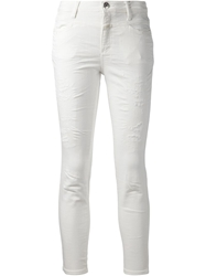 Closed Distressed Skinny Jeans White