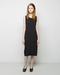 Issey Miyake Crepe Pleats Dress Charcoal