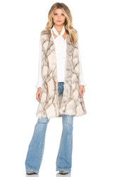 Eternal Sunshine Creations Edee Marble Faux Fur Vest Gray