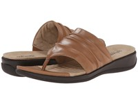 Softwalk Toma Tan Soft Nappa Leather Women's Sandals Brown