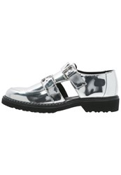 Cult Rose Slipons Mirror Metallic Silver