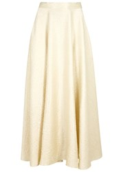 The Row Lea Textured Wool Blend Circle Skirt White