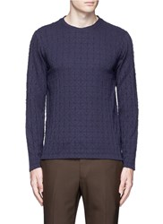 Armani Collezioni Diamond Motif Sweater Blue