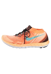 Nike Performance Free 3.0 Flyknit Lightweight Running Shoes Fireberry Black Pink Pow Bright Crimson Coral