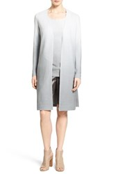Women's Lafayette 148 New York Sequin Ombre Silk And Cotton Knit Long Cardigan