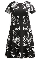 Eloquii Jersey Dress Black White Combo
