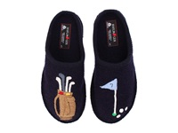 Haflinger Golf Slipper Navy Slippers