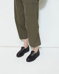 Y's Platform Slip On Loafer Black