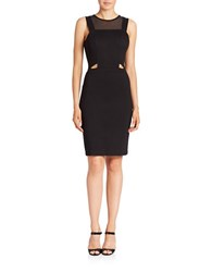 French Connection Cutout Bodycon Dress Black