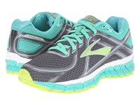 Brooks Adrenaline Gts 16 Anthracite Aqua Green Lime Punch Women's Running Shoes Gray