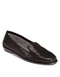 Aerosoles Betunia Smoking Flat Black Sequin