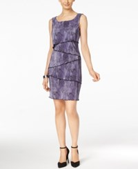 Connected Tiered Sheath Dress Violet