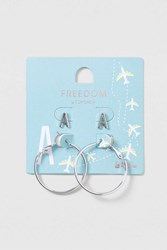Topshop A Initial Stud And Hoop Silver