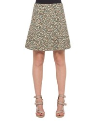 Akris Punto Flounced Static Tweed Skirt Multi Multi Colors