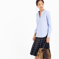 J.Crew Tailored Tunic In End On End Poplin