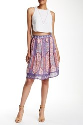 Lucky Brand Tapestry Print Skirt Multi