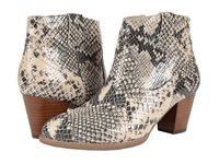 Vionic Upright Windom Western Ankle Boot Natural Snake Women's Pull On Boots Beige
