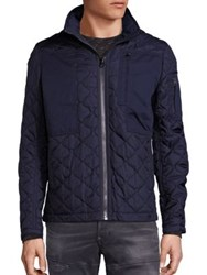 G Star Quilted Long Sleeve Jacket Dark Blue