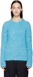 Raf Simons Blue Mohair Roundneck Sweater