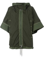 Moncler Bell Sleeve Padded Jacket Green