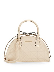 Catherine Malandrino Quilted Faux Leather Satchel Tan