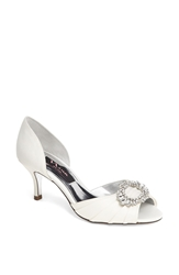 Nina 'Crystah' Embellished Satin Pump Ivory
