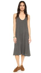 The Great. The Swing Tank Dress Washed Black