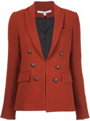 Veronica Beard Button Detail Blazer Red