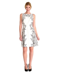 Tahari Arthur S. Levine Marialee Placed Floral Print Fit And Flare Dress