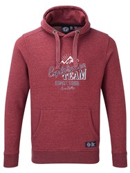 Tog 24 Calgary Print Crew Neck Hoodie Red
