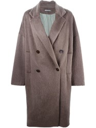 Dusan Double Breasted Long Coat Brown
