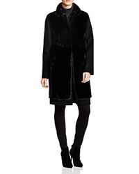 Maximilian Wool And Cashmere Coat With Mink Front Vest Black Black