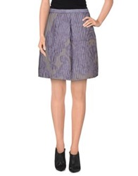 Emporio Armani Knee Length Skirts Purple