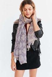 Urban Outfitters Intarsia Blanket Scarf Pink