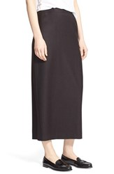 Women's Eskandar Long Straight Flannel Skirt