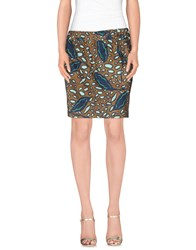 Aspesi Skirts Mini Skirts Women Khaki