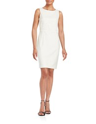 Ivanka Trump Crochet Overlay Dress Ivory
